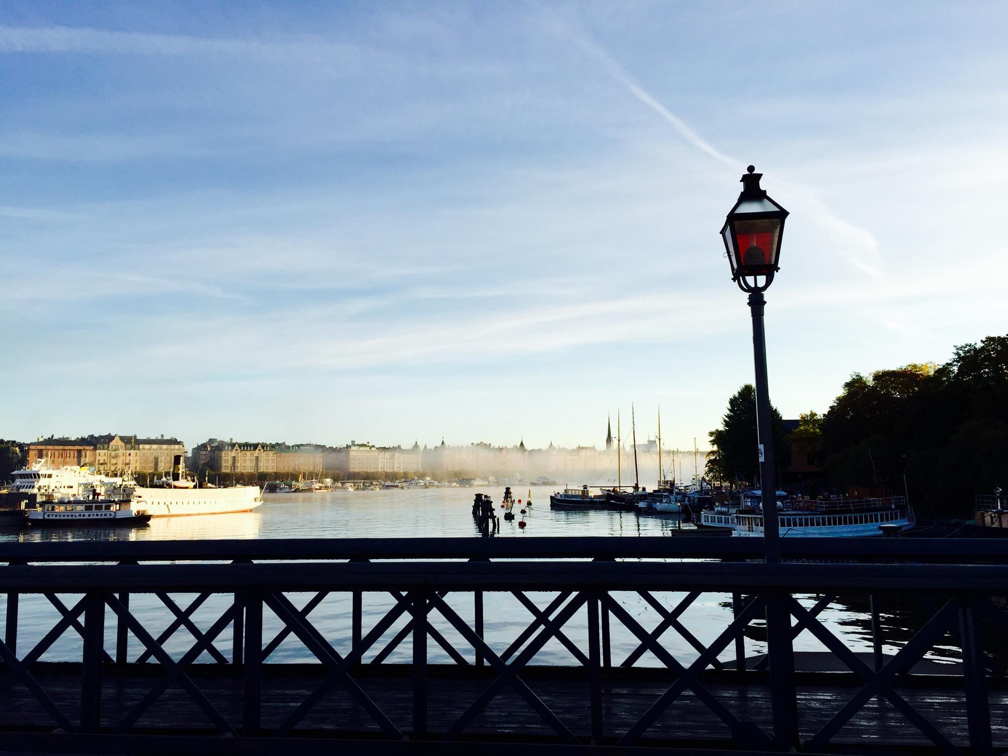 Photo run through Stockholm