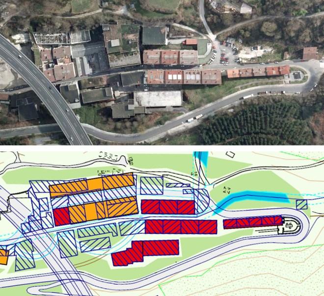 Vista aérea y Plan General para el Área de Txonta