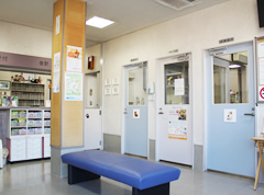 マーハ動物病院の待合室