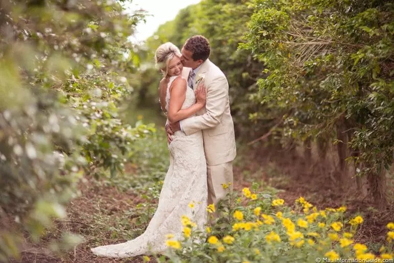 Maui wedding couple