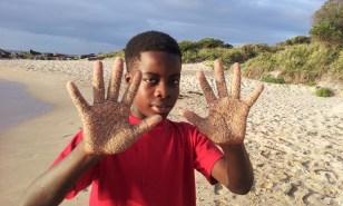 sandy-hands-april
