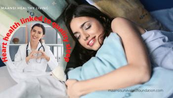 Heart health is linked to quality sleep
