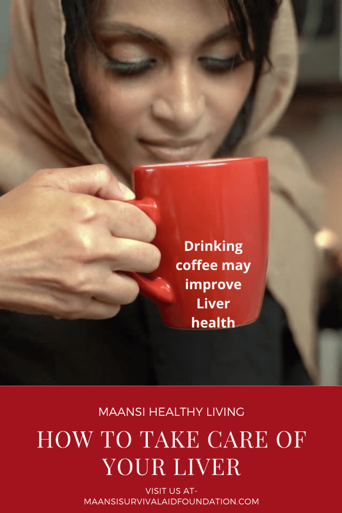 Coffee drinking may improve liver health.