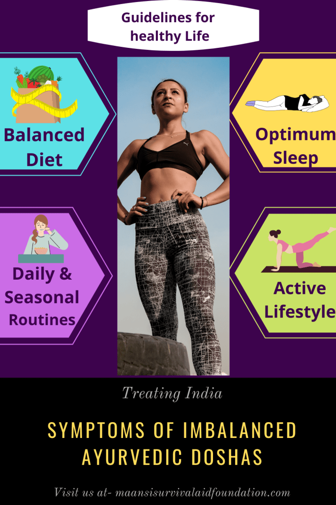 Symptoms of imbalanced Ayurvedic Doshas- Guidelines for healthy living