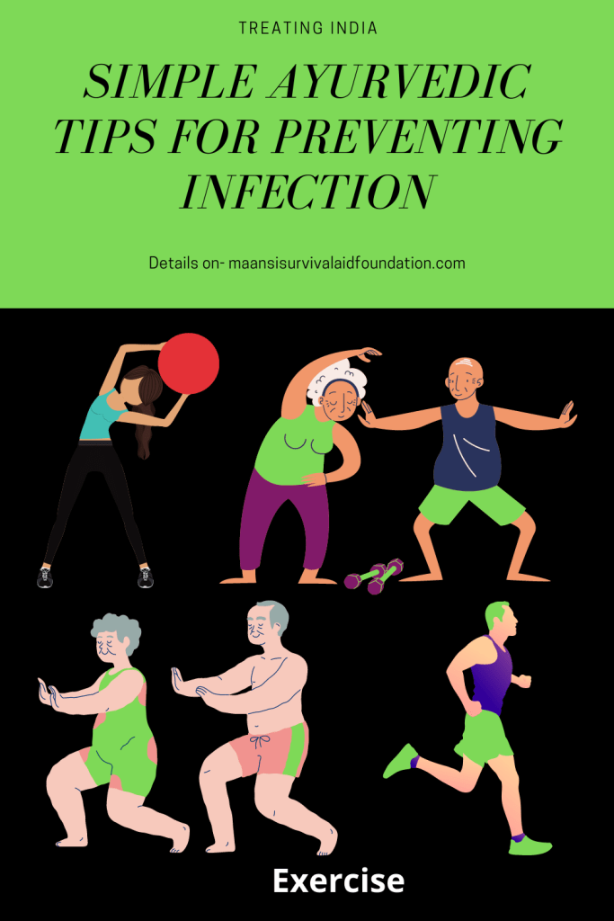Simple Ayurvedic tip of preventing infection- Adopting daily exercise