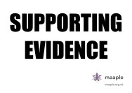Supporting Evidence poster
