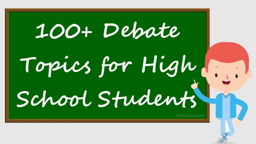 debate topics for high school