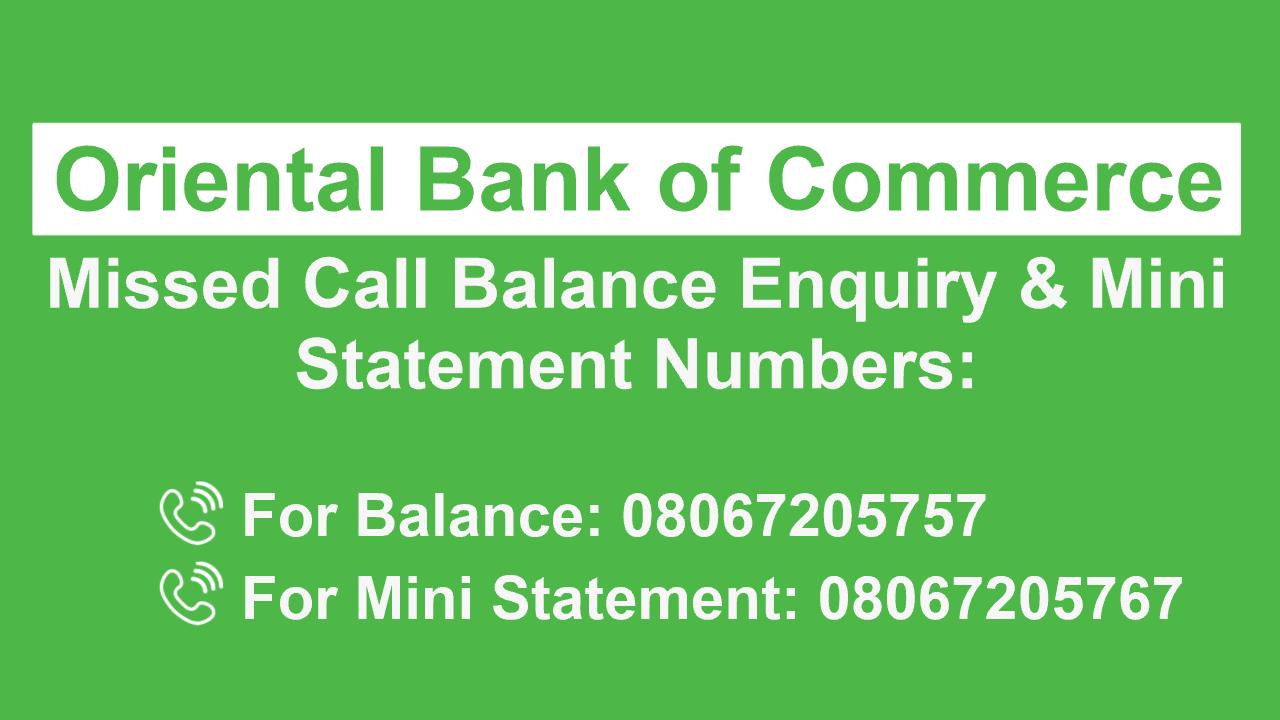 OBC bank balance check