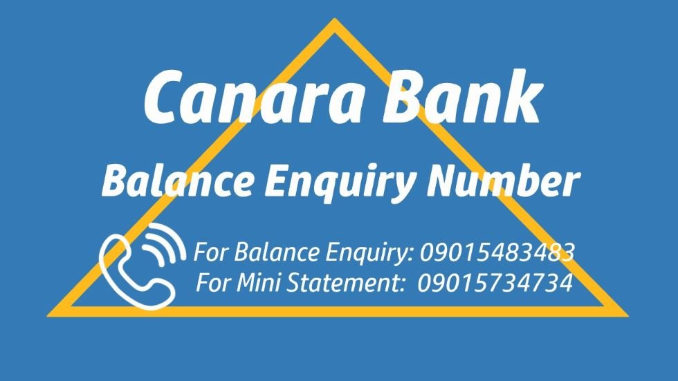 Canara bank balance enquiry