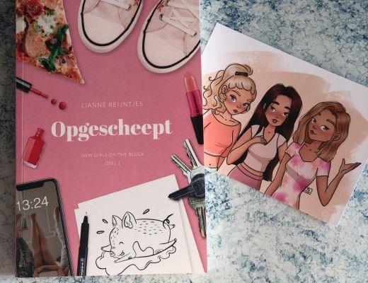 Blogtour Opgescheept – Lianne Reijntjes (New girls on the block #1)