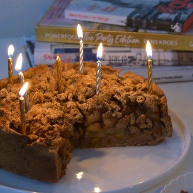 Appel peer crumble taart