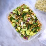 Tupperware thursday: vegan rijst salade met kikkererwten