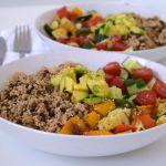 Vegan power couscous met geroosterde groenten