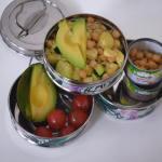 Tupperware thursday: Rijstsalade met pastinaak, kikkererwten en avocado.