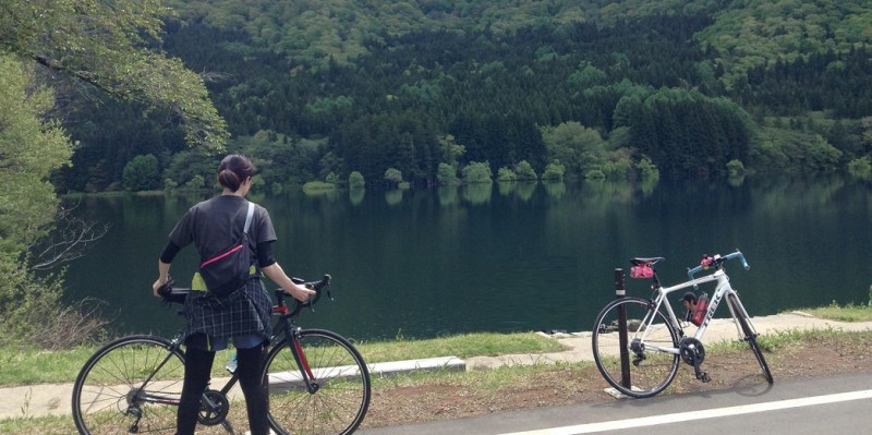 飯山戸狩北竜湖サイクリング