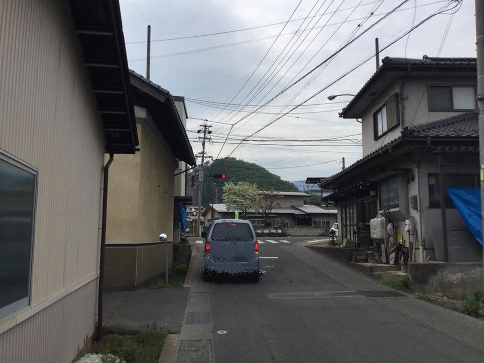 須坂市へサイクリング 高橋信号