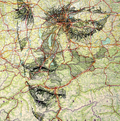 http://www.dailymail.co.uk/news/article-2272854/Theyre-world-Artist-creates-series-incredible-portraits-maps.html#axzz2JtsNGxpf