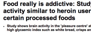 http://www.dailymail.co.uk/health/article-2349007/Food-really-addictive-Study-finds-brain-activity-similar-heroin-users-eating-certain-processed-foods.html