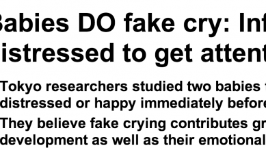 http://www.dailymail.co.uk/sciencetech/article-2540677/Babies-DO-fake-cry-Infants-pretend-distressed-attention.html