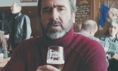 http://www.dailymail.co.uk/news/article-2557317/Cantonas-French-beer-advert-barred-Commercials-boasted-Gallic-superiority-Kronenbourgh-1664-banned-actually-brewed-Manchester.html