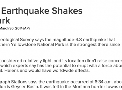 http://abcnews.go.com/Technology/wireStory/48-quake-shakes-yellowstone-national-park-23119314