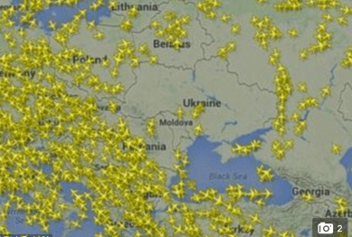 http://www.dailymail.co.uk/news/article-2696563/Ukraine-no-fly-zone-attack-major-airlines-avoid-country-entirely.html