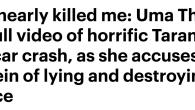 ハーヴェイ・ワインスタインにホテルで襲われたと、過去のセクハラ被害を告白し話題になったユマ・サーマンだが、『キル・ビル』撮影中の衝撃的な映像を公開し、こちらも話題になっている。 http://www.dailymail. […]