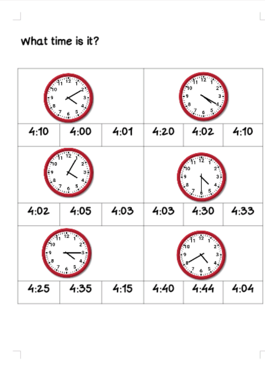 What Time Is It? Grade 2 Worksheet [ 1307 x 924 Pixel ]