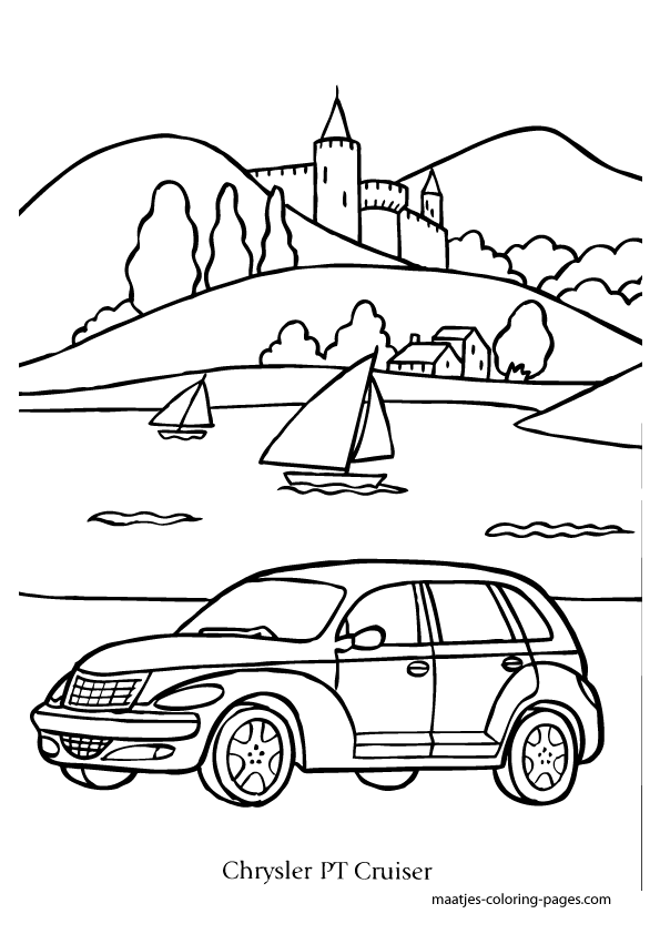 Chrysler PT Cruiser coloring page
