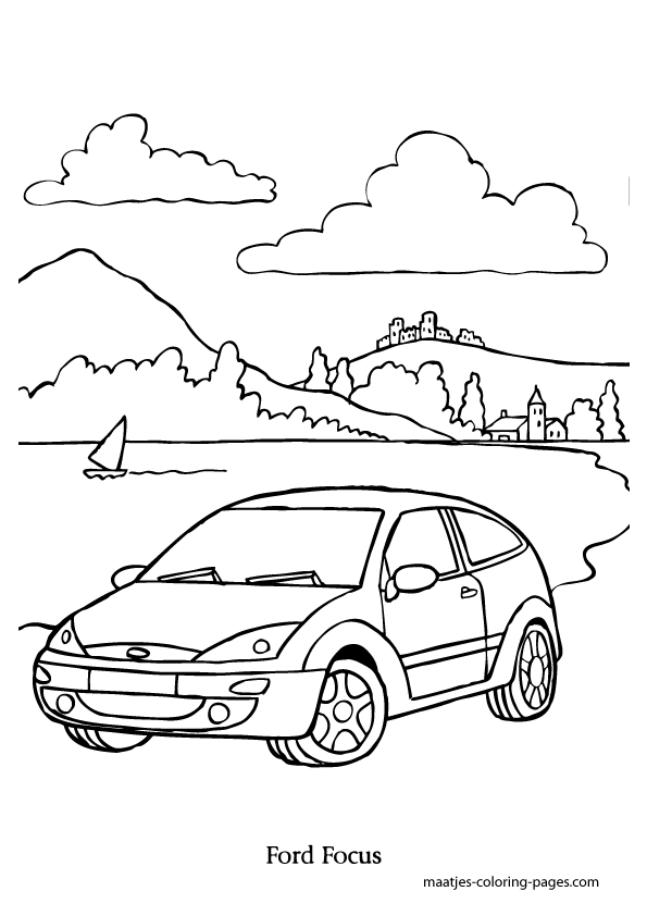 Ford Focus coloring page