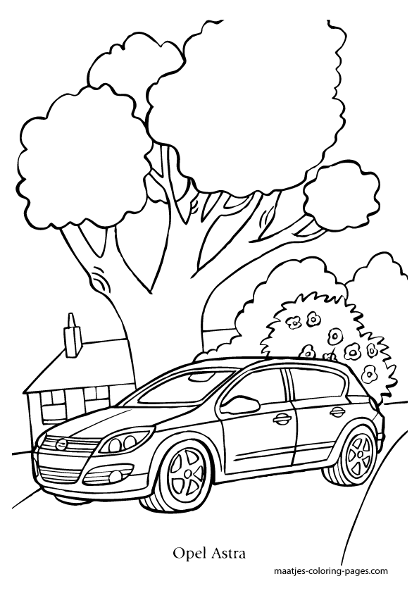 Opel Astra coloring page