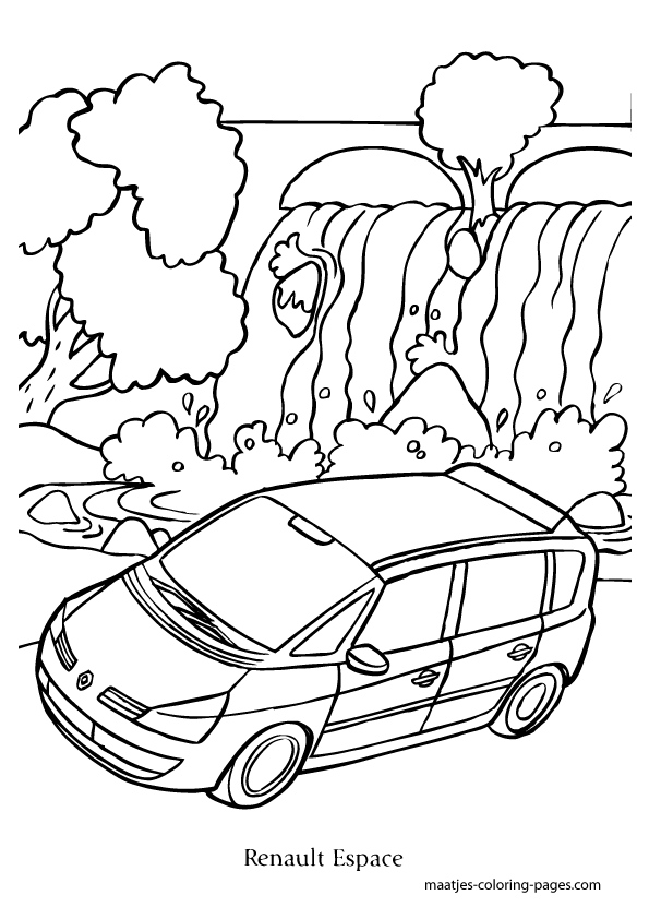 Renault Espace coloring page
