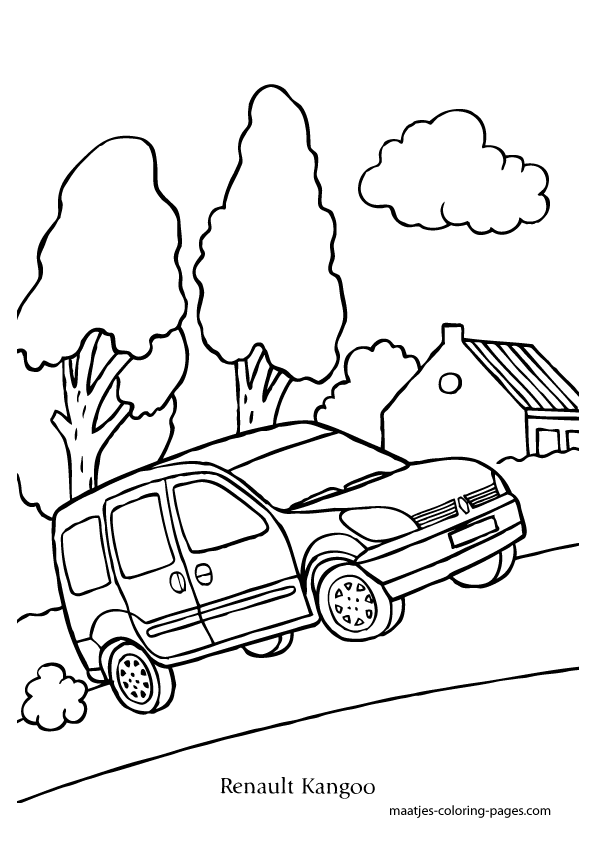 Renault Kangoo coloring page