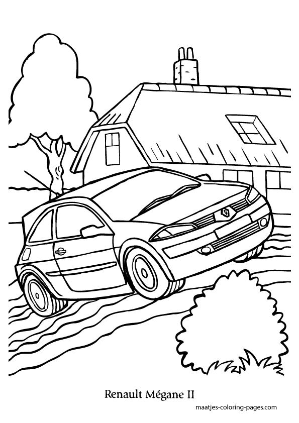 Renault Megane coloring page