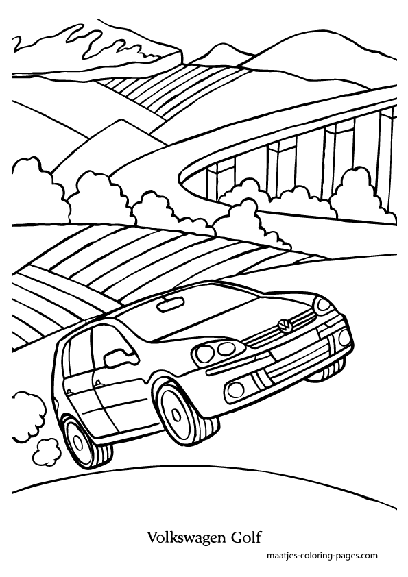 Volkswagen Golf coloring page