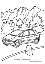 Automobile coloring pages