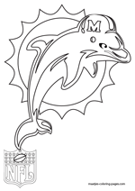 Miami Dolphins Coloring Pages : miami, dolphins, coloring, pages, Miami, Dolphins, Coloring, Pages
