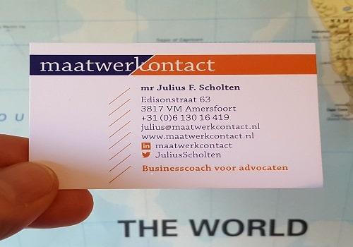Foto visitekaartje mr Julius Scholten van Maatwerkcontact