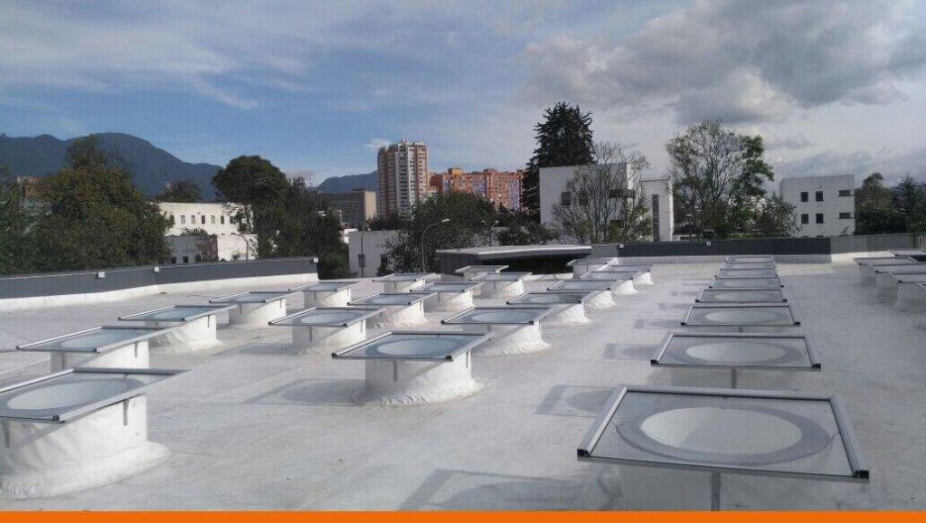 Cubierta edificio Sociología, Universidad Nacional de Colombia.