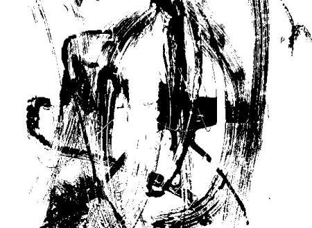 Siebdruck abstrakt schwarzweiß im MABEBU Art Diary