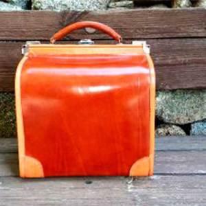 maletin pequeño, maleta, viaje, cuero, hecho a mano, piel, marron