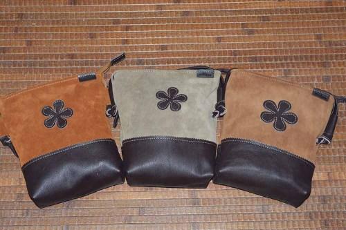 bolso, cremallera, piel, señora, artesania, hecho a mano
