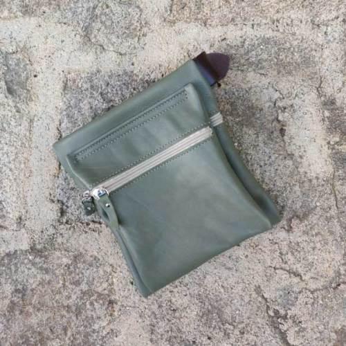 riñonera o bolso de cadera, verde