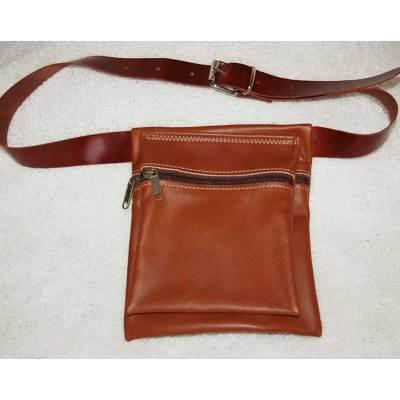 riñonera, bolso cadera, bolso, piel, cuero, artesania, colores, rojo, verde, negro, burdeos, morado