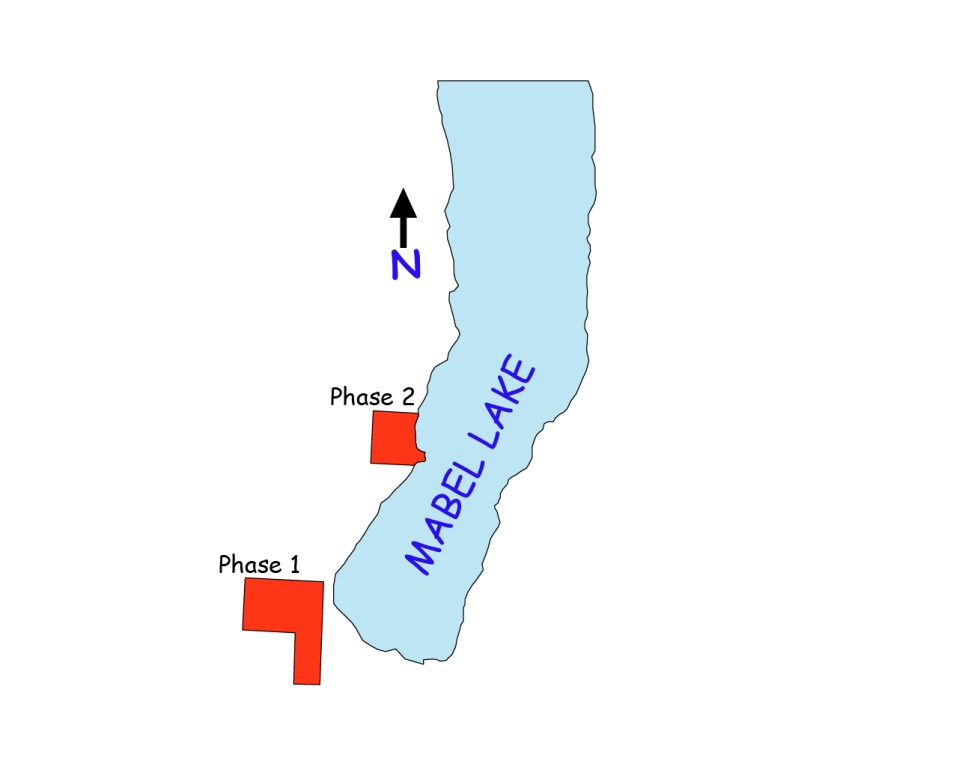 Mabel Lake Lots for Sale Map