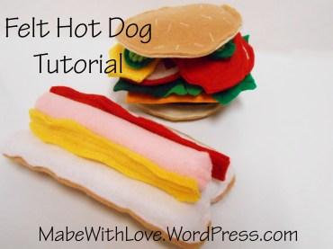Felt Hot Dog Tutorial