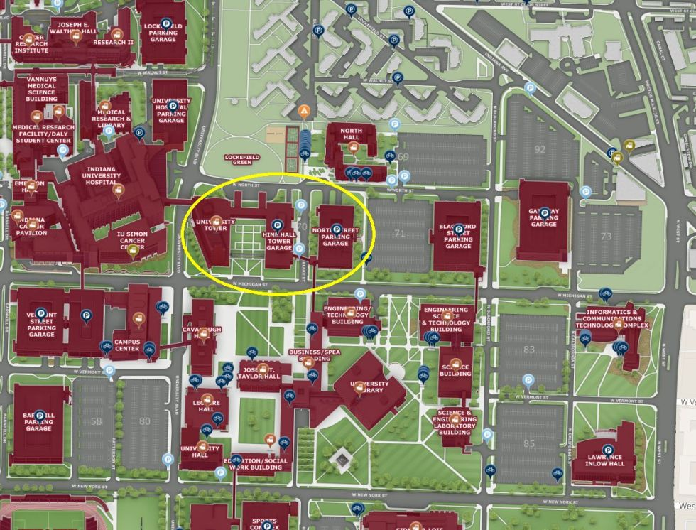 Hine Hall map