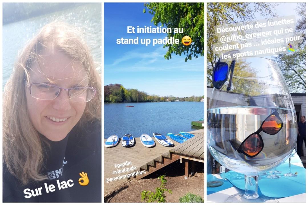 Initiation au Paddle sur le lac de Genval lors de l'event Savoie Mont Blanc Vitaltitude