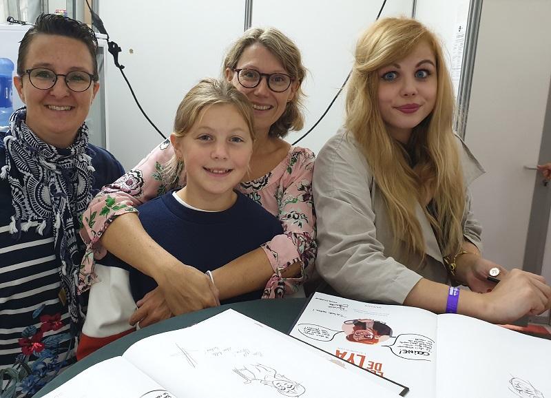 Rencontre avec Justine Cunha et Carbone pour la bd jeunesse dans les Yeux de Lya