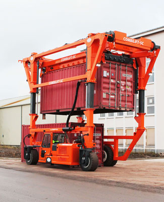 reachstacker container behandelaar